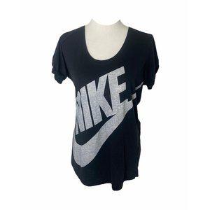 Women's size medium black Nike big logo T-shirt